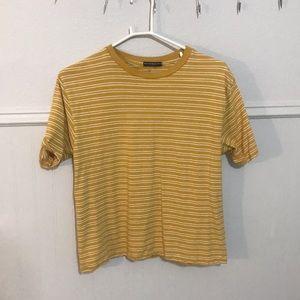 Brandy Melville Yellow Striped T-shirt